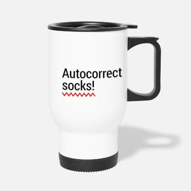 Mobile Phone Autocorrect Socks text message SMS Smartphone - Travel Mug