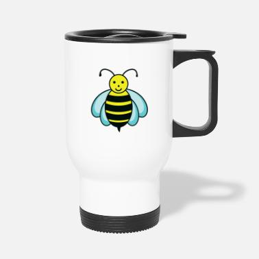Bee bee bird chick fly go travel honey - Travel Mug