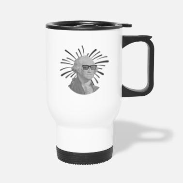 White George Washington glasses | 4th of July - Travel Mug
