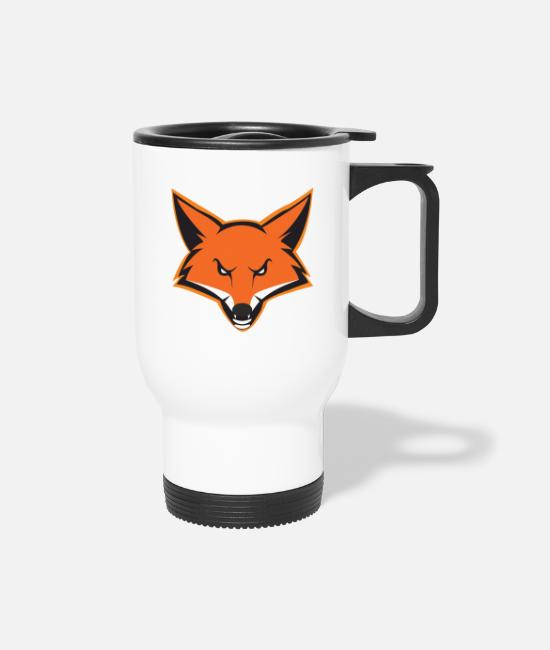 Forest Mugs & Drinkware - Fox mascot - Travel Mug white