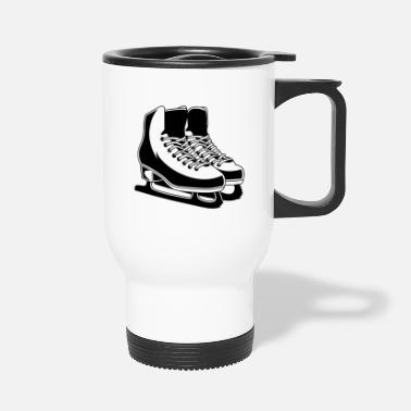 Silhouette Figure skating skates - Travel Mug