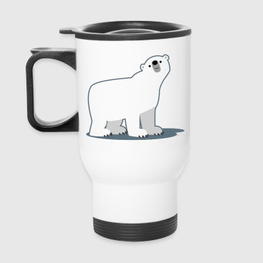 Cute Curious Polar Bear by Cheerful Madness!! - Travel Mug