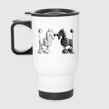 Black And White Poodle - Dog - Travel Mug