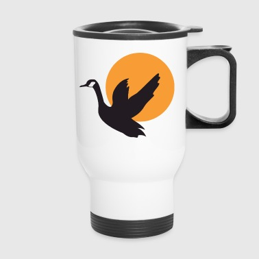 duck silhouette - Travel Mug