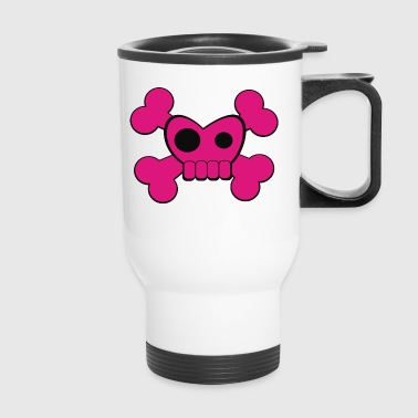 I Heart Skully Roger - Travel Mug