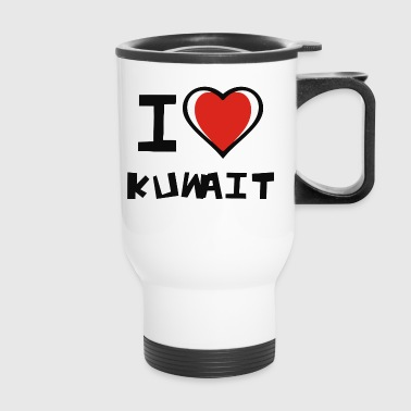 I Love Kuwait - Travel Mug