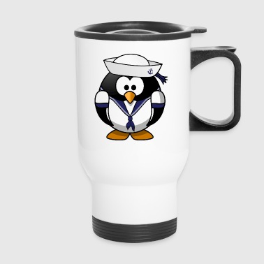 Sailor Penguin Cute Cartoon - Travel Mug