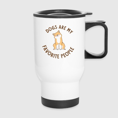 Dogs are my fav People - Gift - Comic Style - Travel Mug
