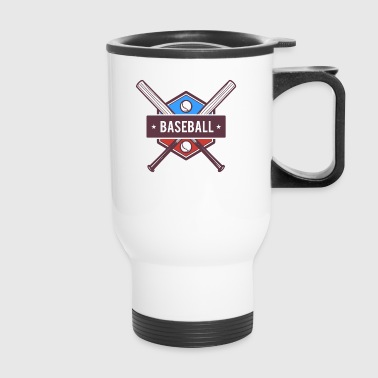 Baseball Bat, Players, Softball, Slow Pitch - Travel Mug