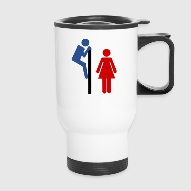 funny toilet door - Travel Mug