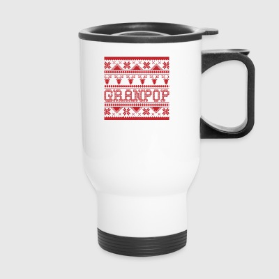 Christmas Ugly Xmas Sweater Granpop - Travel Mug