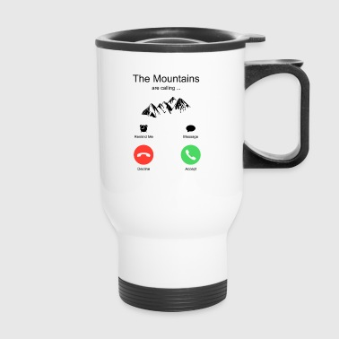 Mountains Hiking Ski Snowboarding - Travel Mug