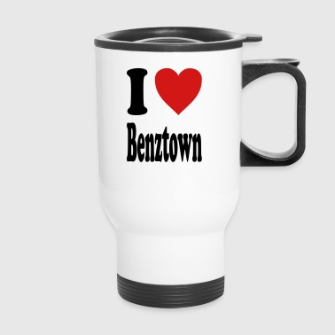 I love Benztown / Stuttgart (variable colors!) - Travel Mug