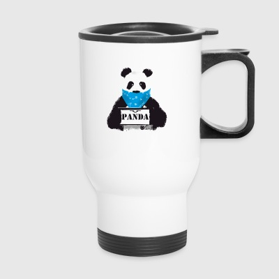 panda search Police Demo anti humor Style lol fun - Travel Mug