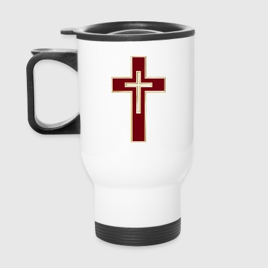Red Christian cross - Travel Mug