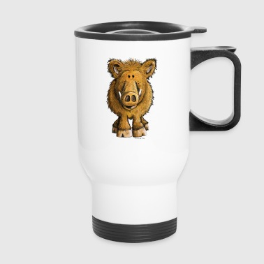 Funny Wild Boar - Sow - Pig - Cartoon - Gift - Travel Mug