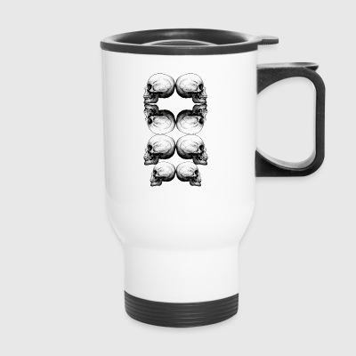 Profile Skull Advanced BW - Travel Mug