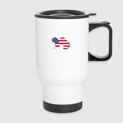 American Flag - Ferret - Travel Mug