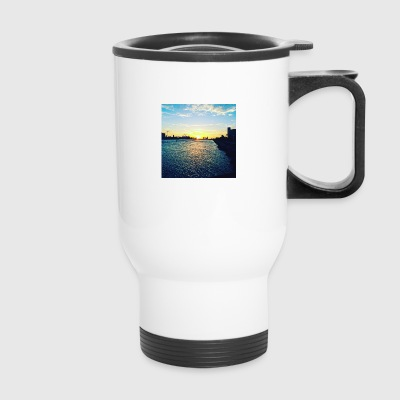 Miami downtown from Miami Beach - Travel Mug