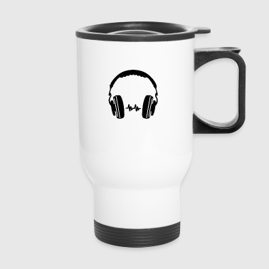 Headphone Silhouette - Travel Mug