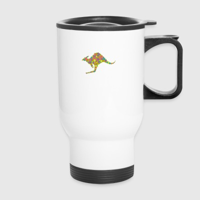 Kangaroo Flower Shirt - Travel Mug
