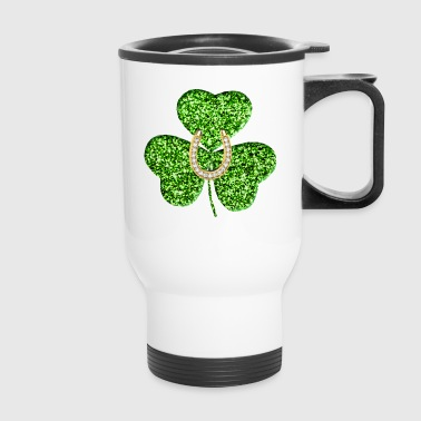 Shamrock And Horseshoe - Travel Mug
