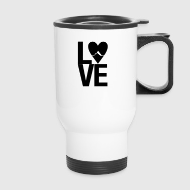 Mountain love - outdoor hiking design - Travel Mug
