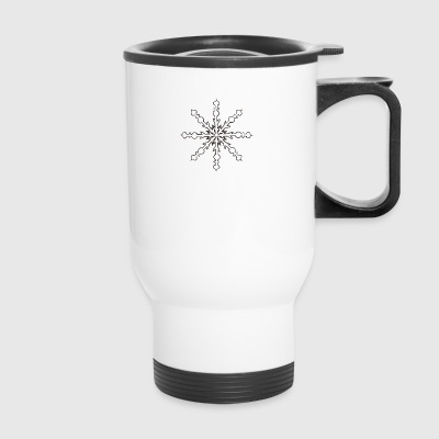 snowflake 2 - Travel Mug