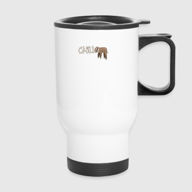 lazybones sloth chilling on tree in rainforest - Travel Mug