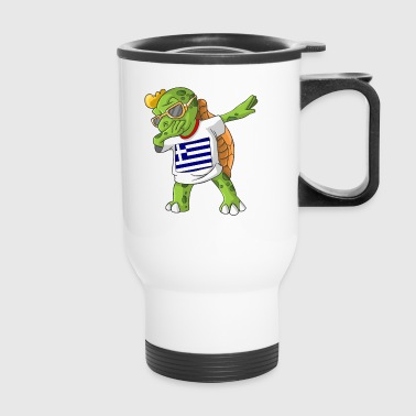 Greece Dabbing Turtle - Travel Mug