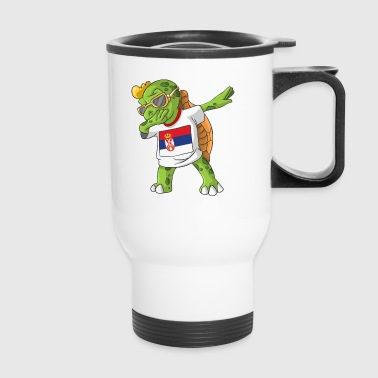 Serbia Dabbing Turtle - Travel Mug
