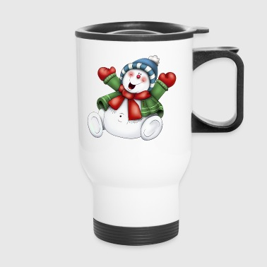 SNOWMAN WITH SCARF - Travel Mug