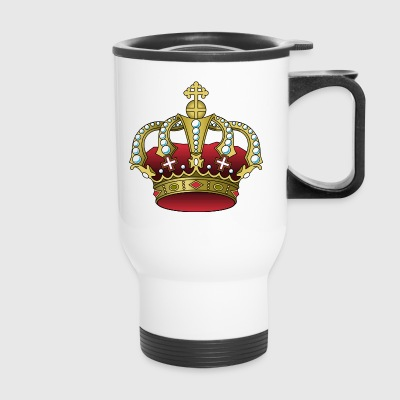 krone crown koenig king castle schloss tower burg2 - Travel Mug