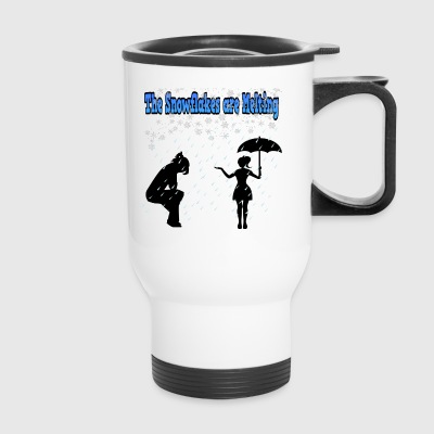 The Snowflakes are melting - Travel Mug