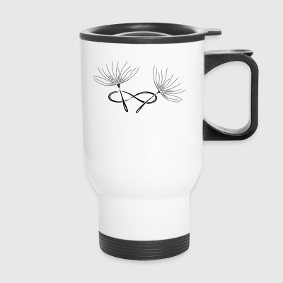 Dandelion, infinity loop, filigree Tattoo. - Travel Mug