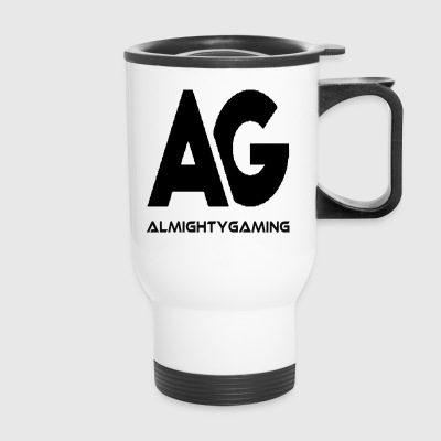 AlmightyGaming Logo (Negative) - Travel Mug
