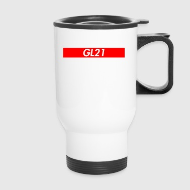 Gl21 Red Stripe Travel Mug