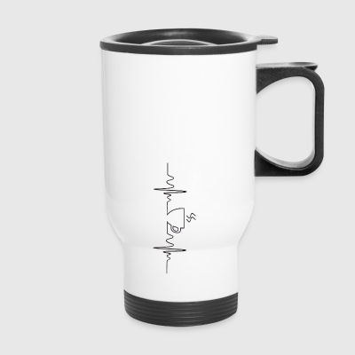 coffee heartbeat - Travel Mug
