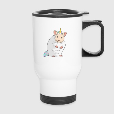 Hamster in a unicorn costume - rodent mouse lover - Travel Mug