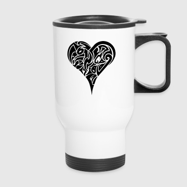 Tribal Heart - Travel Mug