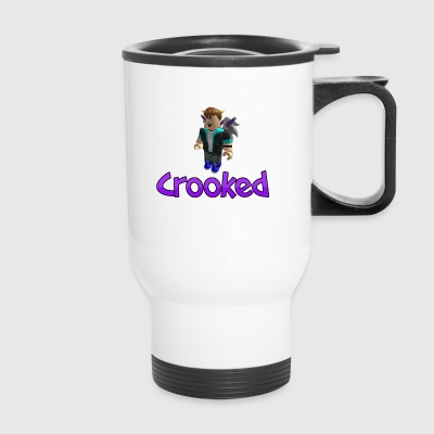 Crooked_shirt_design - Travel Mug