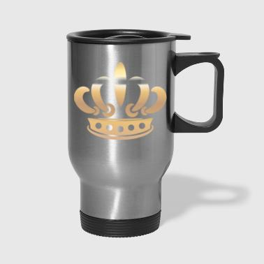 Monarch king gold Crown vector Vip illustration - Travel Mug