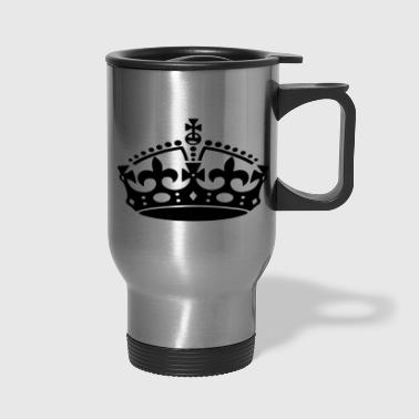 KEEP CALM CROWN - Travel Mug