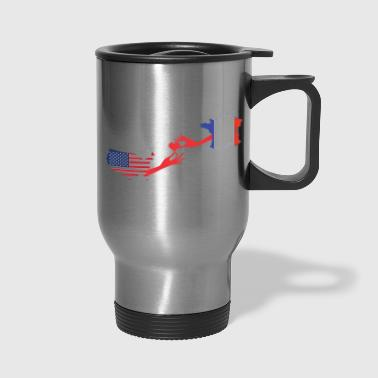 Mother & Son Love Knows No Distance US & France - Travel Mug
