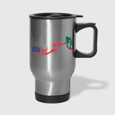 Mother & Daughter Knows No Distance US & Mexico - Travel Mug