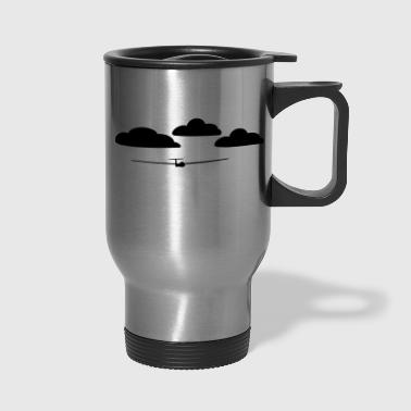 glider with clouds - Travel Mug