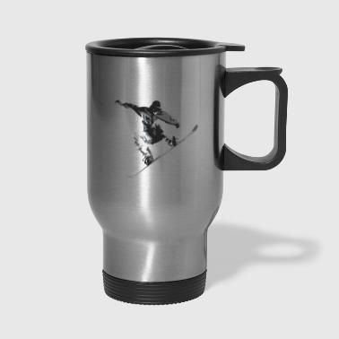 snowboard snowboarders - Travel Mug