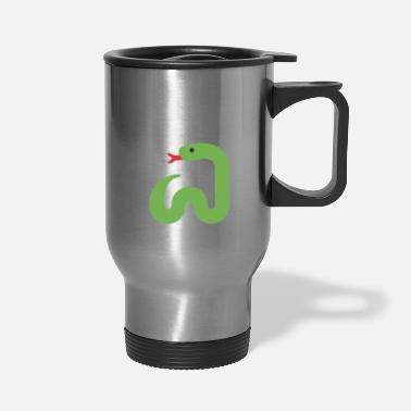 Buddhism Namassste Funny Snake Yoga & Meditation - Travel Mug