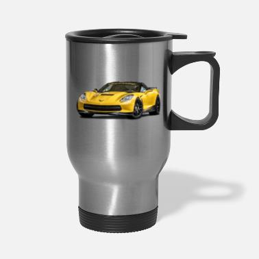 Yellow PERFORMANCE YELLOW CHEVROLET CORVETTE - Travel Mug