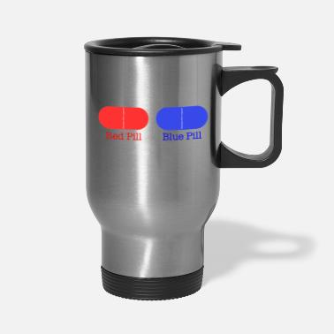 Ramseys Retro Apparel Ramseys Red Pill or Blue Pill - Travel Mug